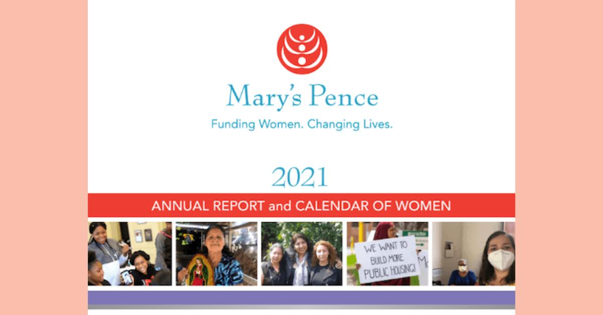FREE 2021 Marys Pence Calendar of Women