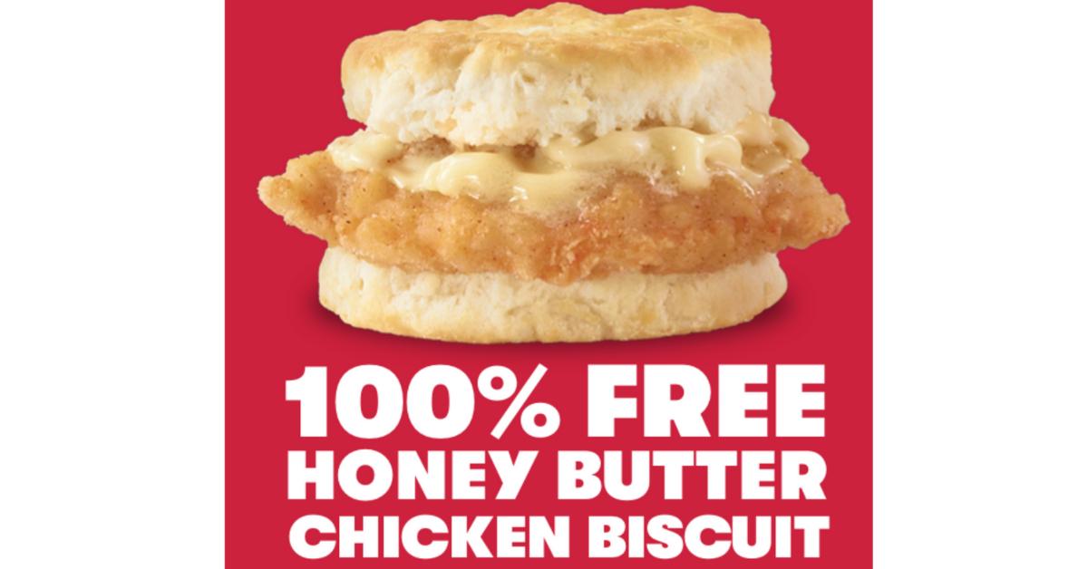 FREE Honey Butter Chicken Biscuit at Wendys