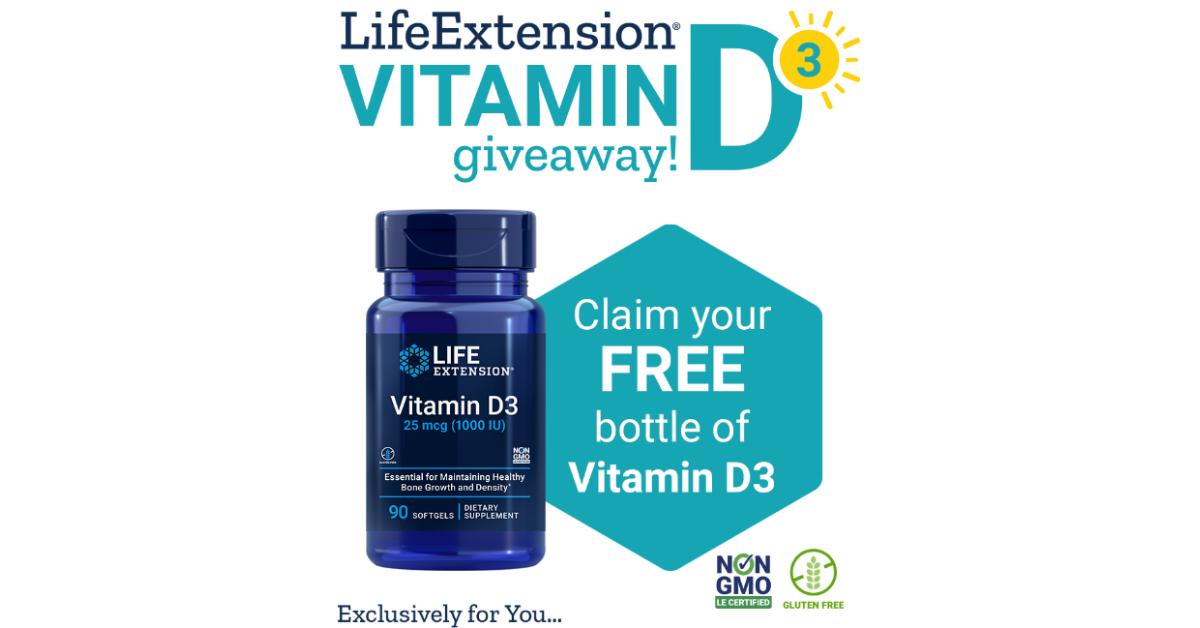 FREE Life Extension Vitamin D3 Full Size Sample