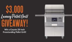 BBQGuys $3K Coyote Luxury Pellet Grill Giveaway