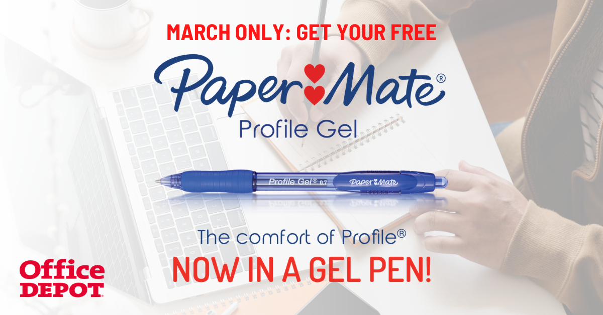 FREE Paper Mate Profile Gel Pen