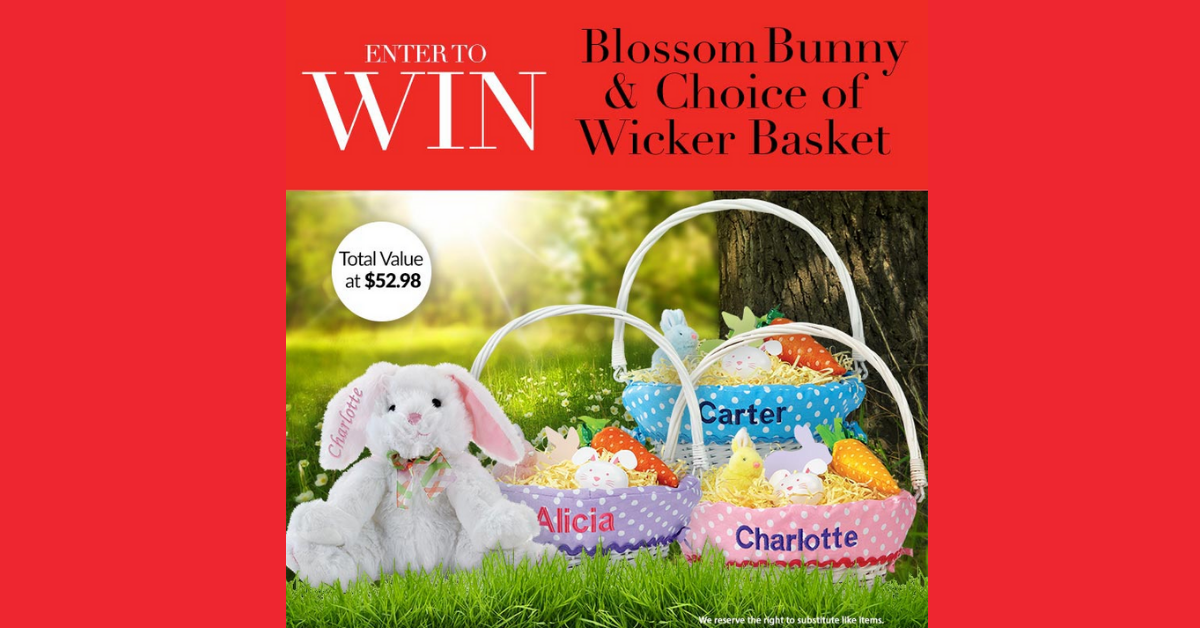 Blossom Bunny and Wicker Basket Giveaway