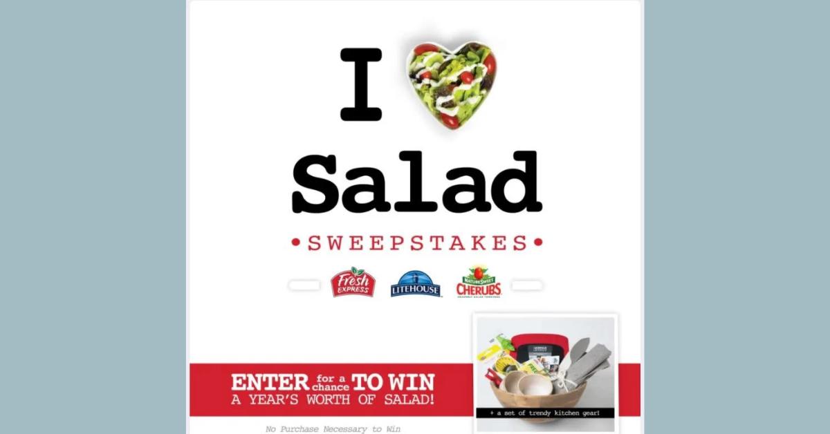 I Heart Salad Sweepstakes