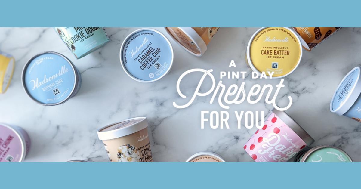 FREE Pint of Hudsonville Ice Cream