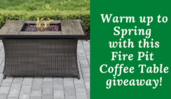 Hanover Fire Pit Coffee Table Giveaway