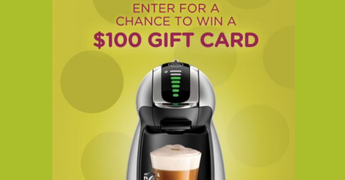 Nescafe Dolce Gusto Chance To Win $100 Sweepstakes