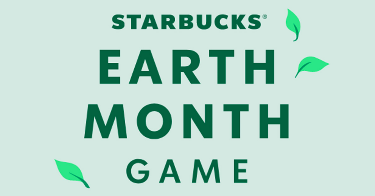 Starbucks Earth Month Instant Win Game