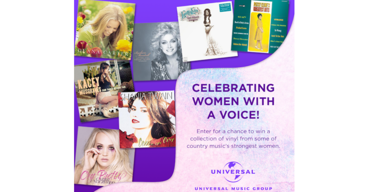 UMG Nashville Womens History Month Sweepstakes
