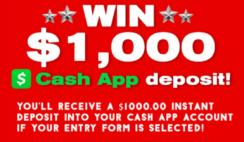 Cash App $1K Sweepstakes