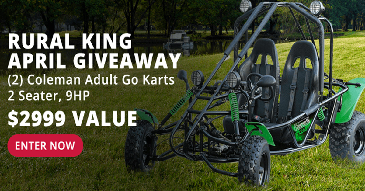 Coleman 96CC Mini Bike in the March Rural King Giveaway