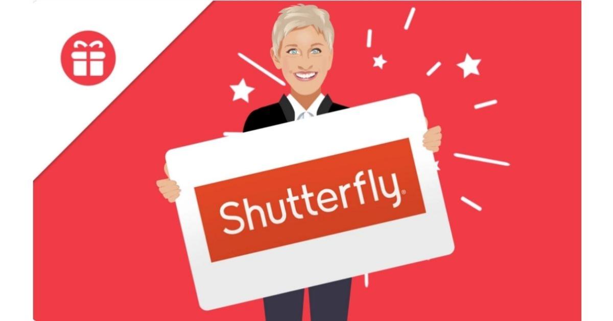 Ellen Shutterfly Gift Card Giveaway