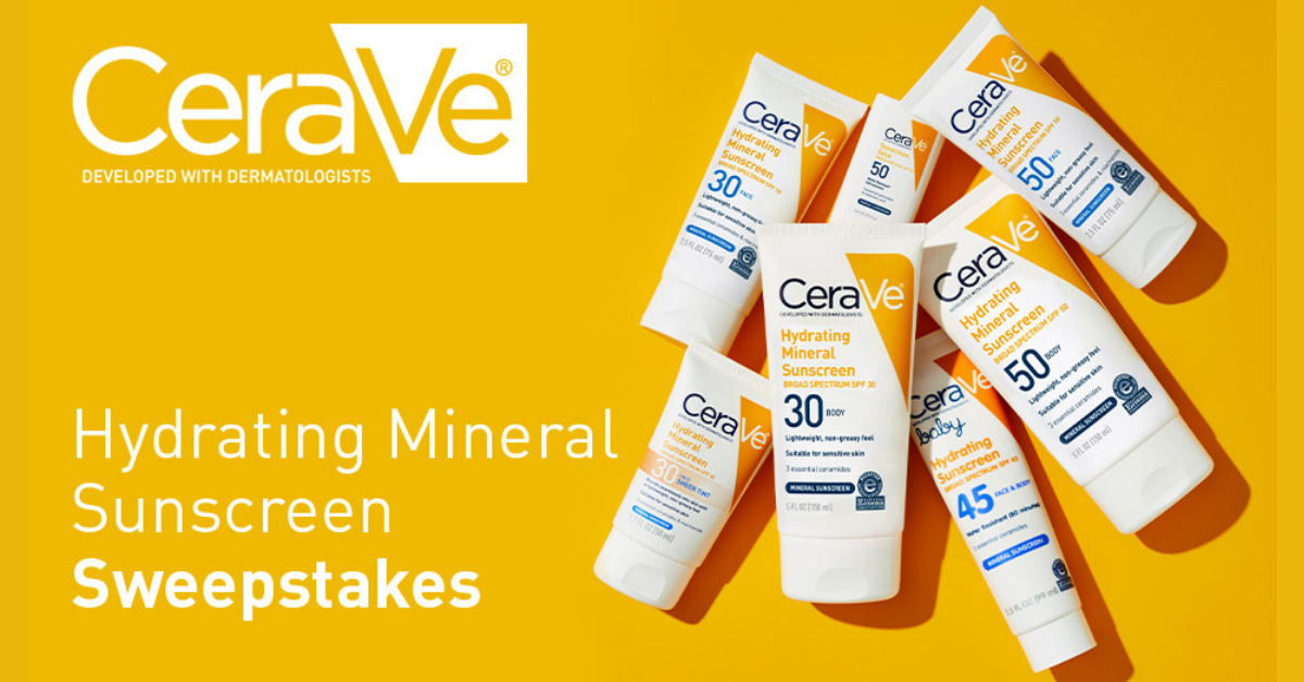 CeraVe Hydrating Mineral Sunscreen Sweepstakes