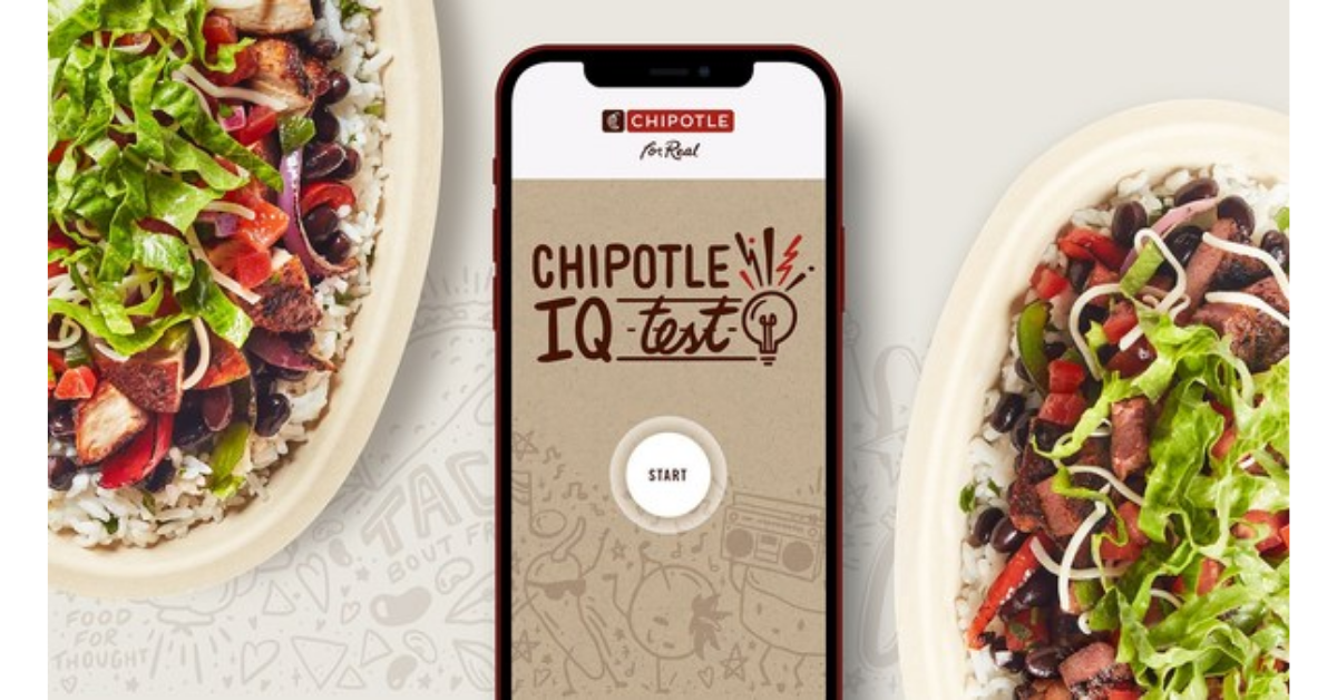 Chipotle IQ Promotion Get a BOGO Coupon