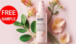 FREE Amie Glow And Bright Illuminating Moisturiser Sample
