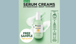 FREE Garnier 3 in 1 Brightening Serum Cream Sample