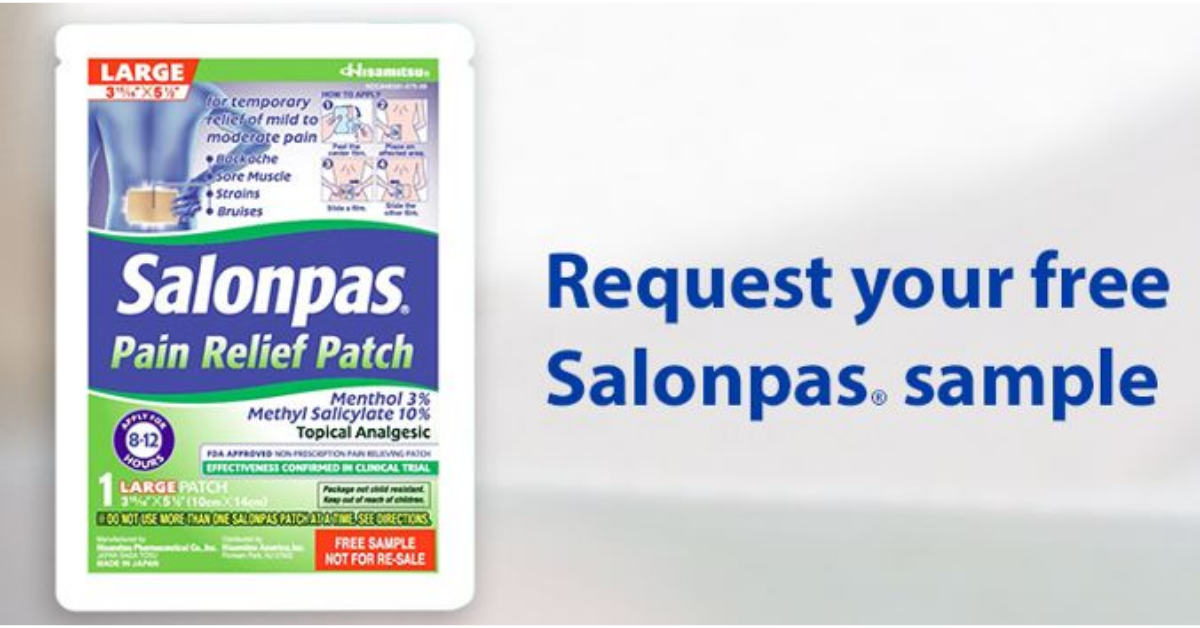 FREE Salonpas Pain Relief Patch Sample