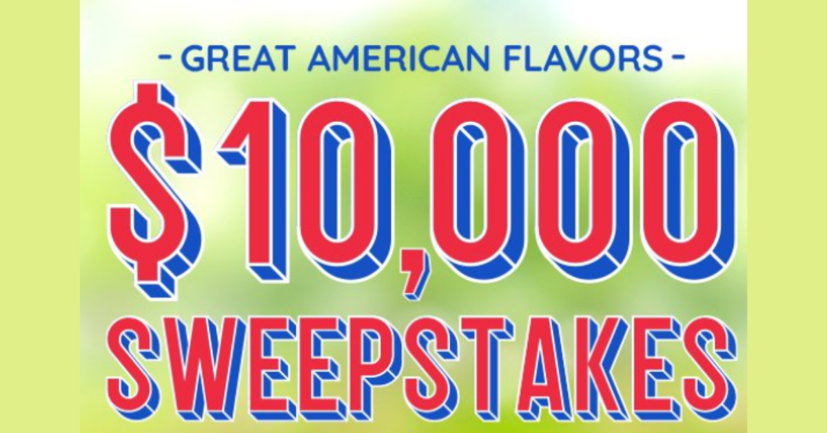 Great American Flavors $10K Sweepstakes