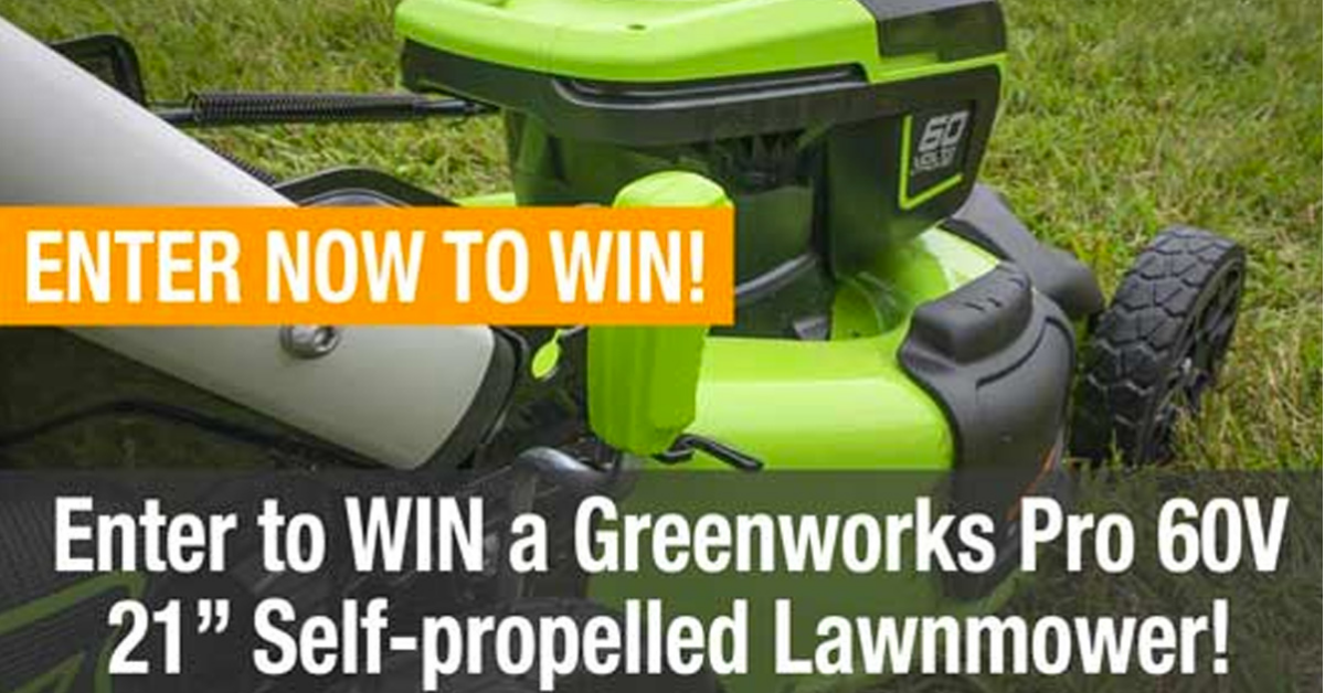 Greenworks Lawnmower Giveaway
