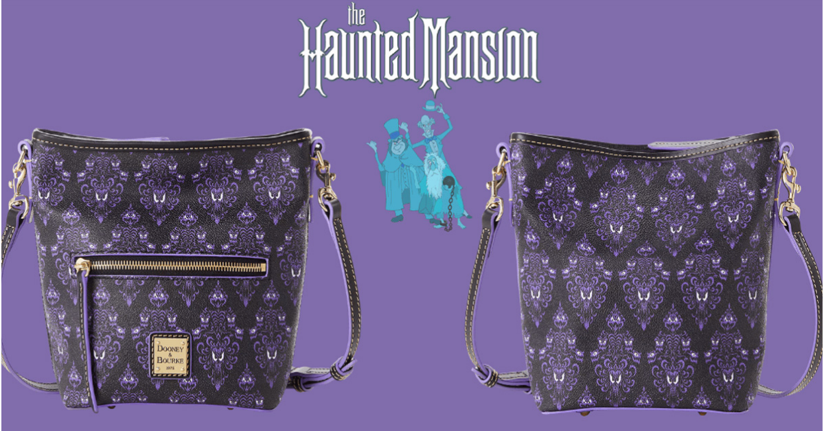 Haunted Mansion Wallpaper Dooney and Bourke Crossbody Bag Giveaway