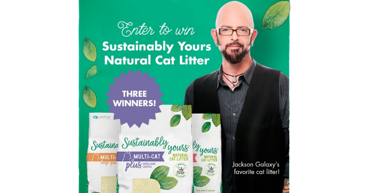 Sustainably Yours Natural Cat Litter Giveaway