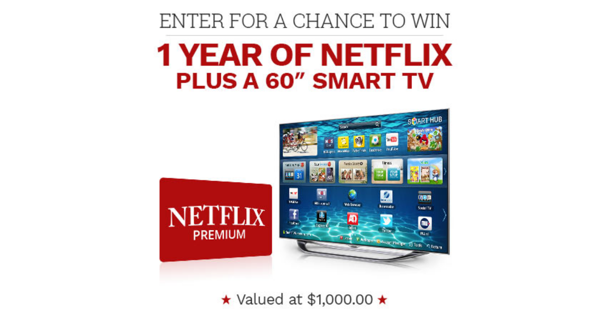 WIN A Year Of Netflix Plus A TV
