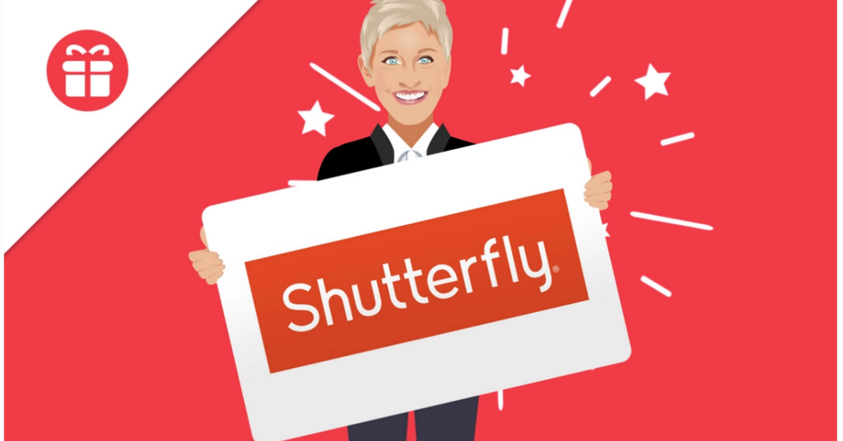 Ellen $500 Shutterfly Gift Card Giveaway