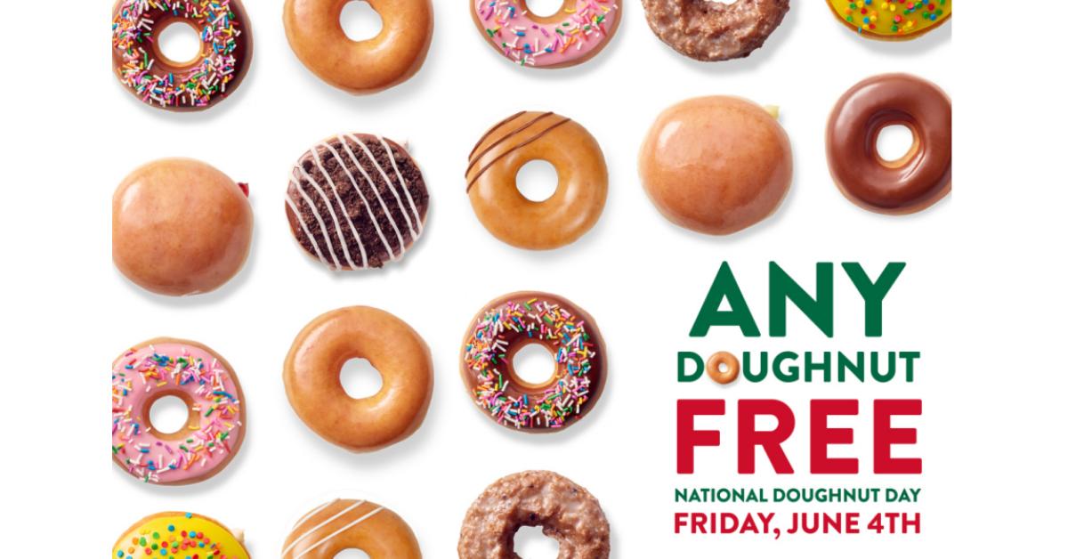 FREE Krispy Kreme Doughnut On June 4th
