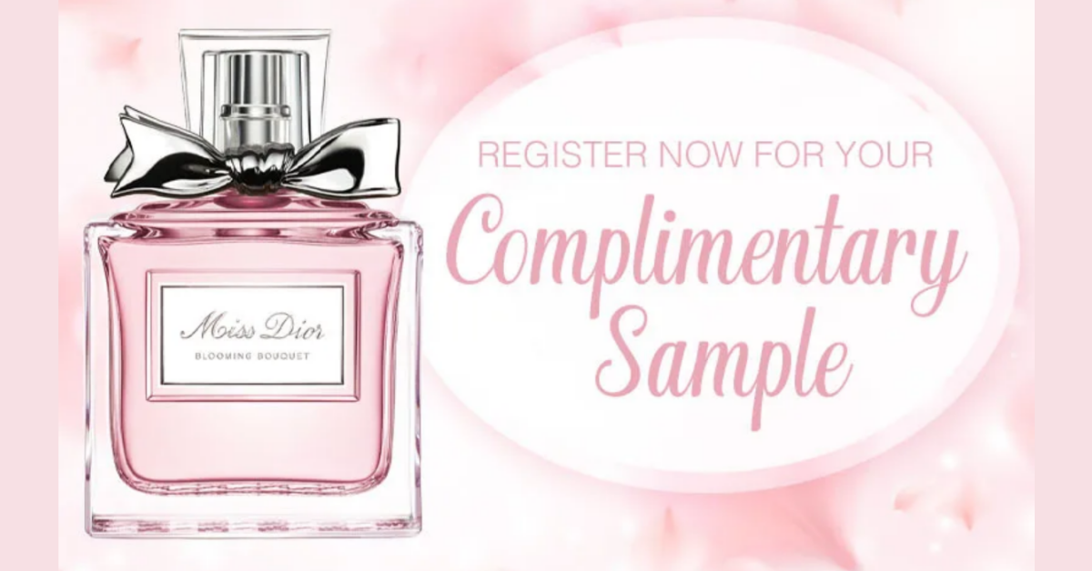 FREE Sample Of Miss Dior Perfume