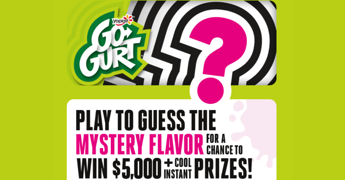 GoGURT Mystery Flavor Sweepstakes and Instant Win Game