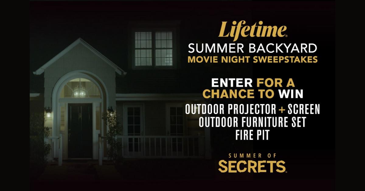 Lifetime Summer Backyard Movie Night Sweepstakes