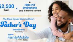 Steve Harvey Show and Walmart Family Mobiles Fathers Day Sweepstakes