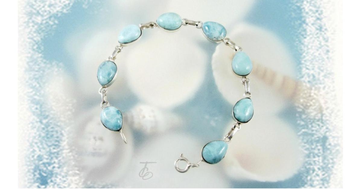 Sunny Caribbean Blue Larimar Bracelet Giveaway