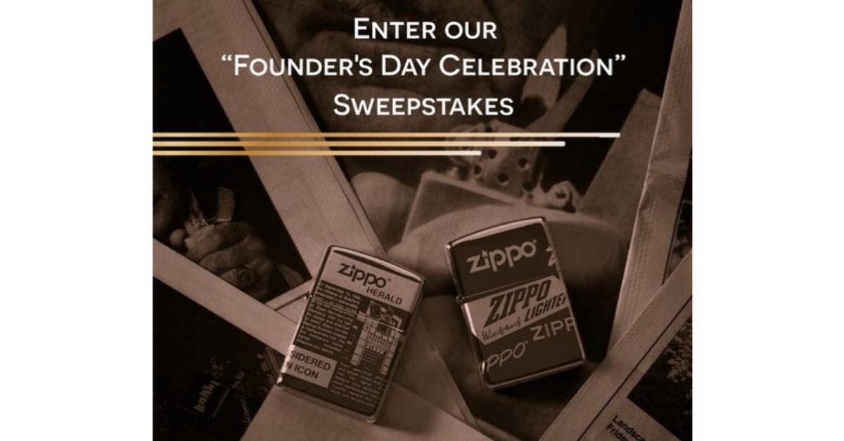 ZIPPO Founders Day Celebration Sweepstakes