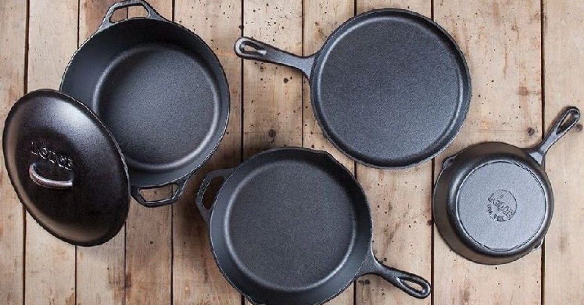 5PC Lodge Cast Iron Cookware Set Giveaway
