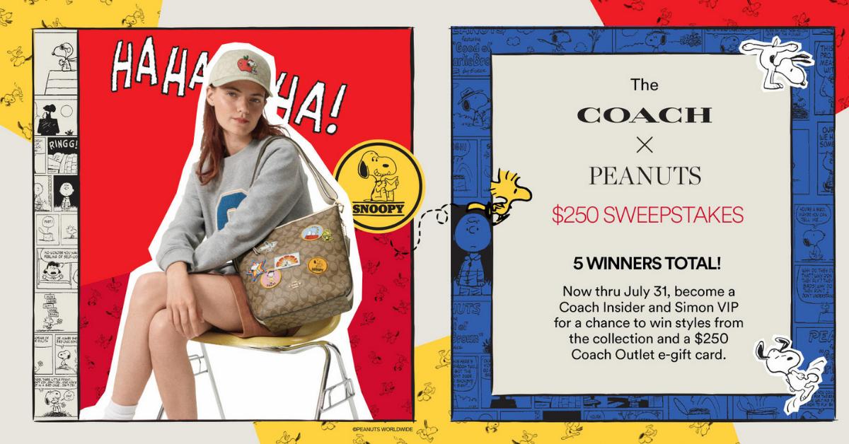 Coach x Peanuts Giveaway