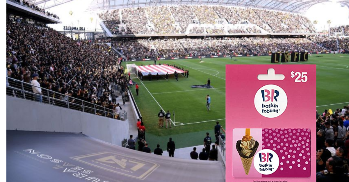 Baskin Robbins Scoop Up with LAFC Sweepstakes