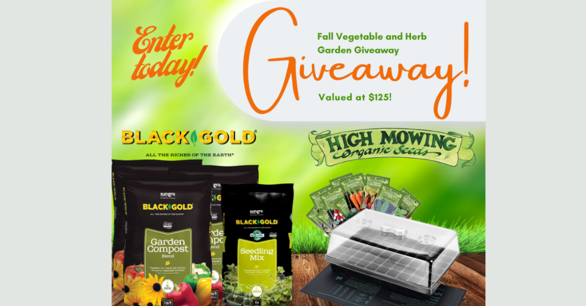 Black Gold Fall Vegetable and Herb Garden Giveaway