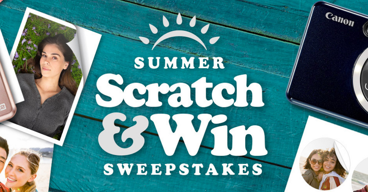 Canons Summer Scratch and Win Instant Win Sweepstakes