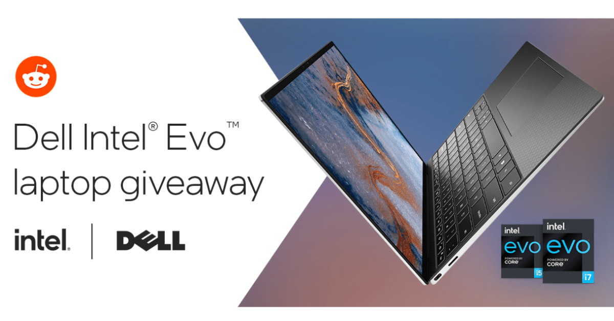 Dell and Intel Evo Laptops Giveaway