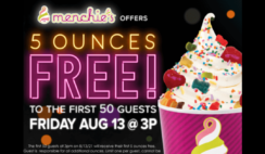 FREE Frozen Yogurt at Menchies On August 13th
