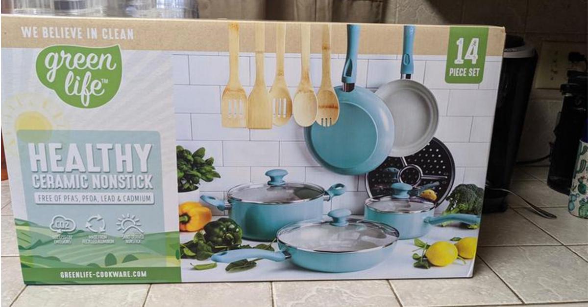 GreenLife Sandstone 14 Piece Cookware Set Giveaway