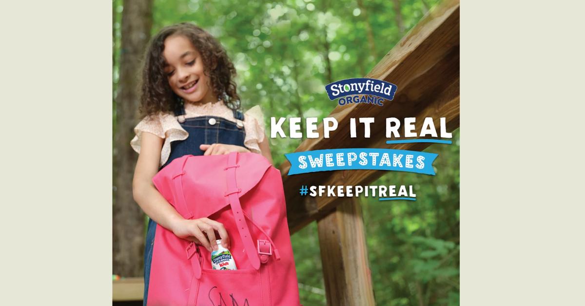 Stonyfield SFKeepItReal Sweepstakes
