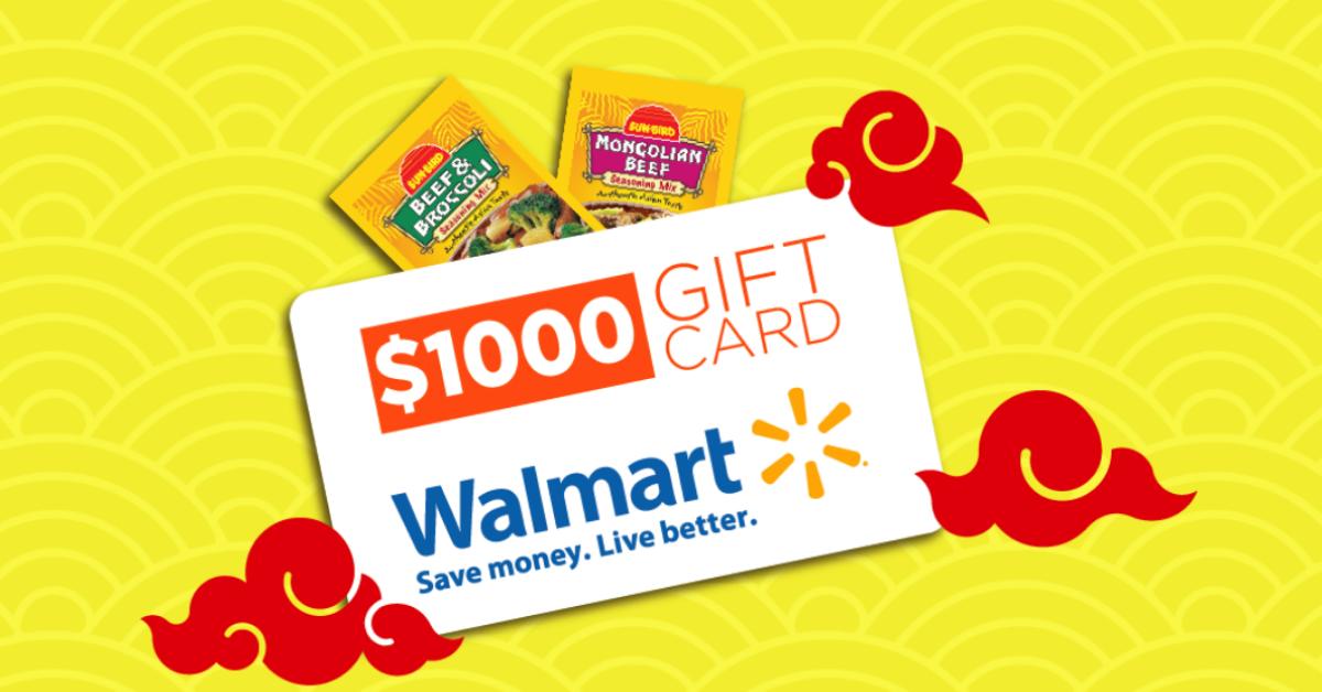 Sunbird Seasonings $1K Walmart Gift Card Giveaway