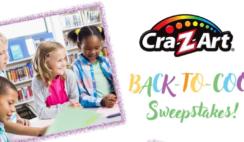 The CraZArt Back to School Sweepstakes