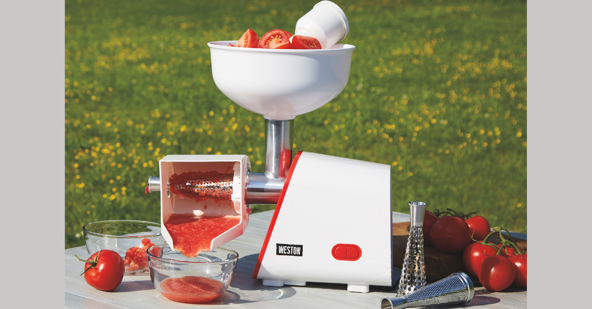 Weston Deluxe Electric Tomato Strainer Giveaway