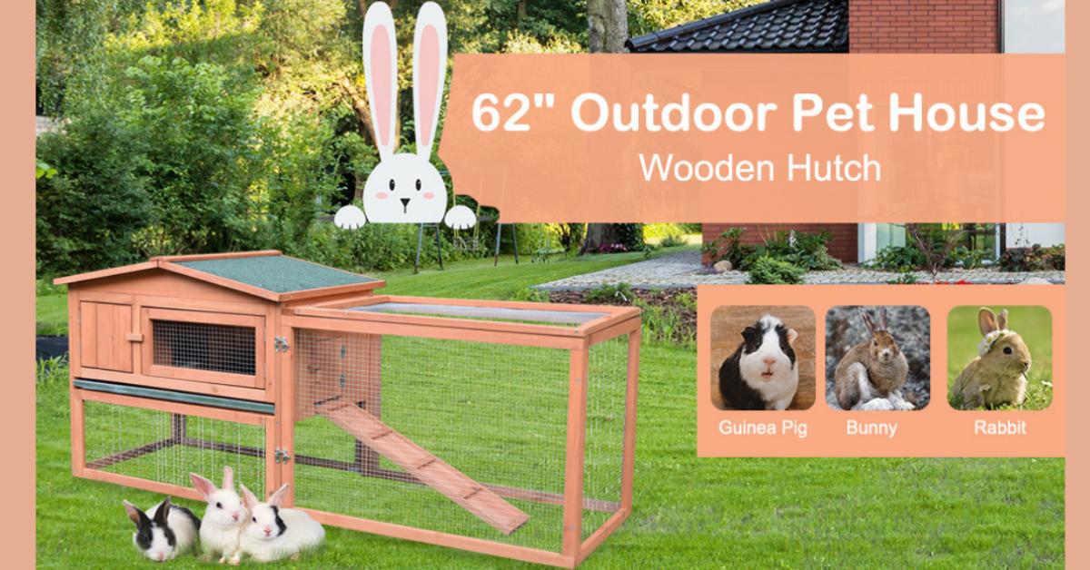 Aosoms Fall Pet Rabbit Hutch Giveaway
