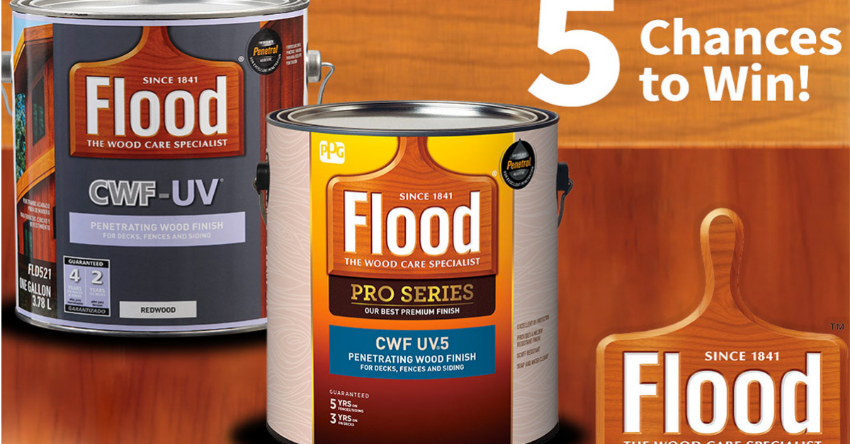 Flood Deck Stain Giveaway