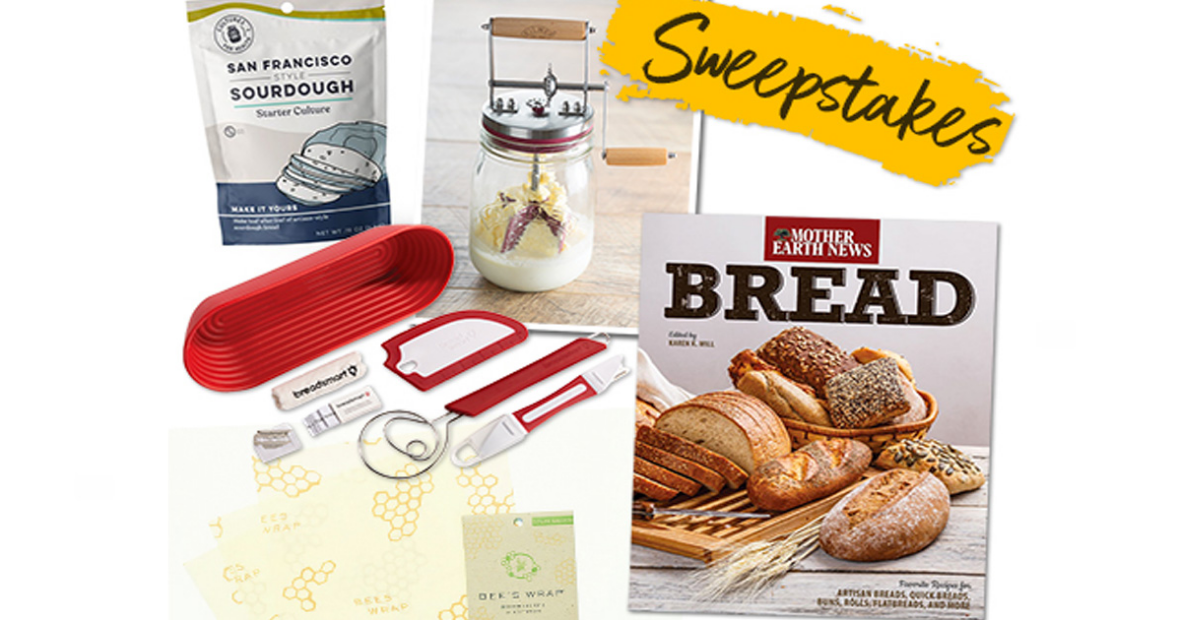 Mother Earth News Bread Baking Giveaway