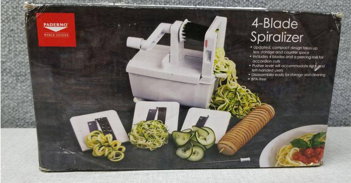 Paderno World Cuisine Spiralizer Pro Giveaway