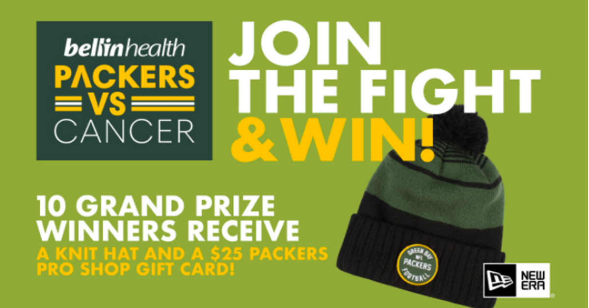 The 2021 Packers vs Cancer Knit Hat Sweepstakes